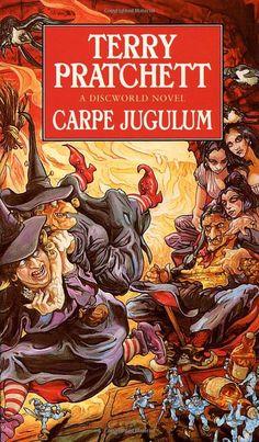 Carpe Jugulum (Discworld, book by Terry Pratchett - book cover, description, publication history. Book Club Books, My Books, Book Nerd, Discworld Books, Terry Pratchett Discworld, Nonfiction, Cover Art, Science Fiction, Novels