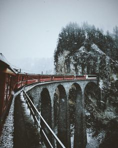 travel by train in wintertime.