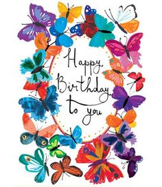 birthday card butterflies