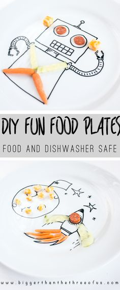 your kiddos will love this diy project food safe and dishwasher safe plates