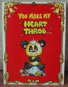 ** MARK 1 Inc. 1975 Vintage Greeting Card Style 243 Thinking Of You   1.8P723B481217JUNK0324   http://ajunkeeshoppe.blogspot.com/