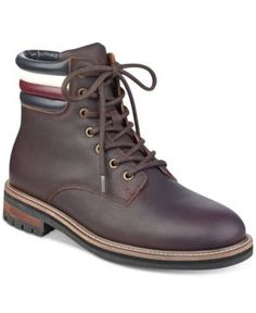 Tommy Hilfiger Men's Halle Lace-Up Lug Sole Boots - Brown 10.5