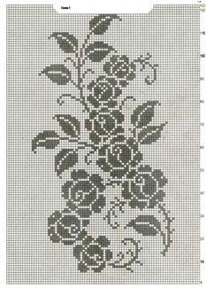 Crochet Curtains, Crochet Doilies, Cross Stitch Patterns, Crochet Patterns, Fillet Crochet, Sewing Stitches, Crochet Videos, Yarn Projects, Crochet Clothes