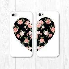 iPhone 6 Case iPhone 5 Case Besties Floral Phone Case by fieldtrip Best Friend Cases, Bff Cases, Friends Phone Case, Cute Cases, Cute Phone Cases, Best Friend Gifts, Best Friends, Coque Iphone 5s, Iphone 7