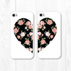 Besties Black Coral Floral iPhone 5 Case iPhone 5s by fieldtrip, $28.00