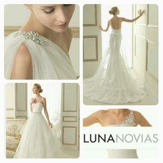 Vi fører Luna Novias brudekjoler fra og med i år Lace Wedding, Wedding Dresses, One Shoulder Wedding Dress, Fashion, Bride Dresses, Moda, Bridal Gowns, Wedding Dressses, La Mode
