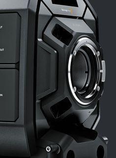 Blackmagic Design URSA Mini Pro, the digital film camera with professional broadcast camera features and controls. Id Design, Form Design, Shape Design, Design Elements, 3d Camera, Cinema Camera, Hard Surface Modeling, 3d Modeling, Body Worn Camera