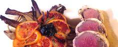 Civitavecchia 2016. La ricetta dello chef Fabrizio Guizzo del Ristorante Barbesin, Castelfranco Veneto: Filetto di cervo al profumo di liquirizia con fiore variopinto al radicchio tardivo di Treviso DOSI PER 4 PERSONE: 2 filetti di cervo q.b. liquirizia in polvere gr. 5