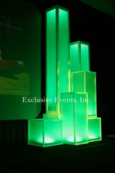 Light Up Columns & Staging by Exclusive Events, Inc.