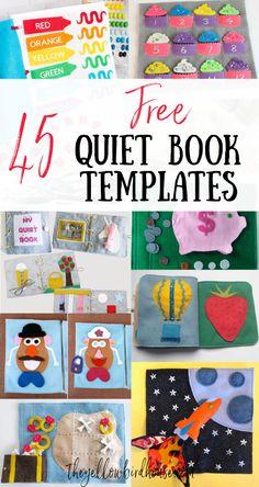 Diy Busy Books, Diy Quiet Books, Baby Quiet Book, Felt Quiet Books, Quiet Book For Toddlers, Diy Craft Books, Diy Toddler Books, Baby Books, Quiet Book Templates