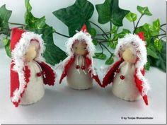 Jahreszeitentisch - Winterzwerge weihnachtlich Jahreszeitentisch - ein Designerstück von Tanjas-Blumenkinder bei DaWanda