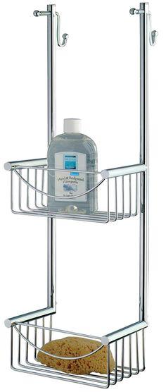 Das stilvolle Hängeregal Padua aus verchromten Edelstahl wird direkt an die Duschkebinenwand gehängt. Garantiert ohne Kratzspuren, denn die Halterungen des Regals sind mit klarem Kunststoff ummantelt. Gesehen für € 179,- bei kloundco.de.
