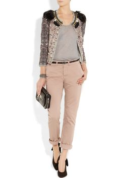 Aubin & Wills pants / Isabel Marant jacket .... Lovely sweet-rock combo