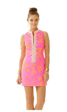 Check out this product from Lilly - Alexa High Collar Shift Dress  http://www.lillypulitzer.com/product/new-arrivals/alexa-high-collar-shift-dress/c/1/8235.uts