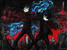 lol, Kraven meet Eidren in first time, they fight each other before introduce themselves! Nice to meet you stranger Emo Art, Goth Art, Arte Emo, The Night Is Young, Fantasy Rooms, Creepy Pictures, Creepy Art, Punk, Nice To Meet