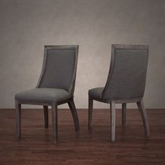 Park Avenue Smoke Linen Dining Chair (Set of 2) - Overstock Shopping - Great Deals on 555 Dining Chairs