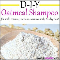 DIY Oatmeal Shampoo for Scalp Eczema, Psoriasis & Sensitive Scalp - beautymunsta - free natural beauty hacks and more! Make your very own DIY oatmeal shampoo to soothe scalp eczema, psoriasis or a sensitive scalp! Scalp Psoriasis Treatment, Psoriasis Remedies, Eczema Psoriasis, Eczema Symptoms, Arthritis Remedies, Arthritis Symptoms, Health Remedies, Beauty, Exercises