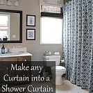 Hometalk :: My French Country Guest Bath...with Drapery Panels as a Shower Curtain…