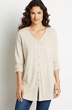 heathered slub knit top