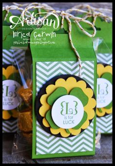 L is for Luck! (Occasions Alphabet) St. Patrick's Day treats for my downline! http://pinkbuckaroodesigns.blogspot.com/2014/03/l-is-for-luck-occasions-alphabet.html