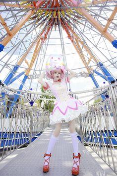 Super cute cosplay of Madoka by Anzujaamu... My Crush <3