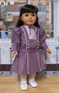 Earley dropped waisted Frock, made for Smanatha or Nellie. American Girl Doll Samantha, American Girl Clothes, American Girls, Clothing Patterns, Doll Patterns, Dress Patterns, Ag Doll Clothes, Girl Dolls, Ag Dolls