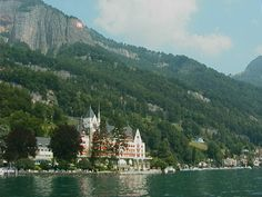 vitznau switzerland. little gem at the foot of the alps, on lake lucerne.