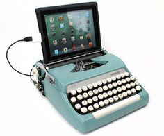 The typewriter simply connects to your computer via USB, and yes, it still writes beautifully on paper if you'd prefer to use it the old fashioned way.