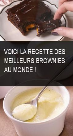 Voici la recette des meilleurs brownies au monde ! #Recette #Meilleurs #Monde #Meilleur #Brownies Voici, Frosting, Sweet Tooth, Deserts, Brunch, Pudding, Cakes, Candy Bars, Italy