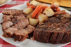 Slow Cooker EASY Pot Roast - Bringing you back to those Sunday dinners at Grandma's!  www.GetCrocked.com