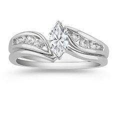 Swirl Diamond Wedding Set at Shane Co.