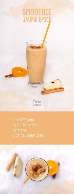 Mes 5 smoothies colorés - jaune