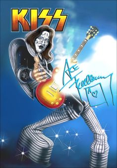 Ace Frehley / KISS Caricature Display Stand-Up Display por kiss76
