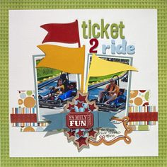 """Animal Crackers """"Ticket 2 Ride"""" Layout - Two Peas in a Bucket"""