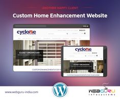 WebGuru is excited to #design yet another user friendly website on #Wordpress platform, this time for Cyclone Home Systems, a home enhancement service provider.  #wordpresswebsitedevelopment