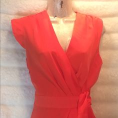 Calvin Klein! Vibrant orange do you stand out! You will love. Bundle and save $$ Calvin Klein Dresses Midi