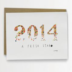 SALE! Funny New Years Card - Happy New Year 2014: A Fresh Start