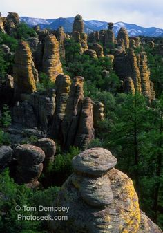 Chiricahua National Monument Park...did the seven mile hike there...really cool rock formations.