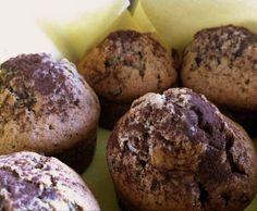 Rezept Stracciatella-Muffins mit Schokokern (Variation von Grundrezept für leichte Muffins) von Butasi - Rezept der Kategorie Backen süß