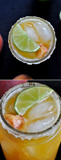Peach Margaritas I howsweeteats.com