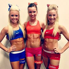 A picture of Jamie Andries / Reagan West / Peyton Mabry. This site is a community effort to recognize the hard work of female athletes, fitness models, and bodybuilders. Cheer Abs, Cheer Dance, Cheer Athletics Abs, Yoga Fitness, Bodybuilding Girl, Cheer Practice, Cheer Quotes, Cheer Outfits, Football Cheerleaders