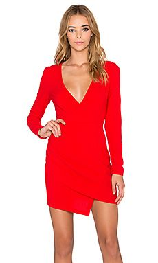 tiger Mist Next Time Long Sleeve Dress in Red