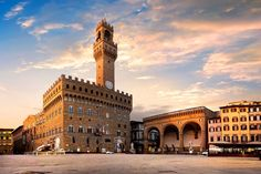 Buy Square of Signoria in Florence by Givaga on PhotoDune. Square of Signoria in Florence at sunrise, Italy Giorgio Vasari, Palazzo, Pisa, Palacio Pitti, Florence Cathedral, Under The Tuscan Sun, Colourful Buildings, Toscana, Monuments