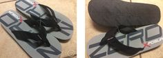 NEW with Tags Zero Xposur Size 12-13 Large Black/Grey/Red/White Flip Flops Thongs Sandals $14