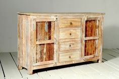 Whiteleaf Reclaimed Wood 2 Door 4 Drawer Sideboard | Modish Living