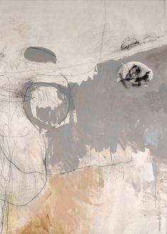 Jeri Ledbetter {{LM curateur pour galerie TACT art contemporain collage mixed media} palette de couleurs légères et très intéressante. Des lignes et courbes en finesse {/LM}}