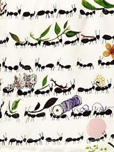 Peter Jensen Ants Print fabric