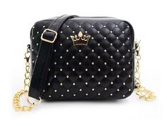 New Rivet Chain Shoulder Bag Designer Handbags High Quality Shoulder Bag female Hot Ladies Handbag PU Leather Crossbody XP569
