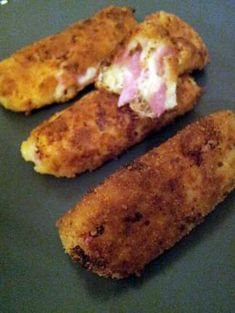 Croquettes of ham and cheese Healthy Party Snacks, Healthy Low Carb Snacks, Healthy School Snacks, Healthy Toddler Snacks, Healthy Snacks For Adults, Mary Berry, Easy Smoothie Recipes, Healthy Smoothie, Ham And Cheese