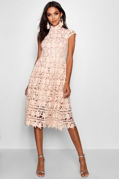 0db39ba858aa Click here to find out about the Boutique Lace High Neck Skater Dress from  Boohoo,